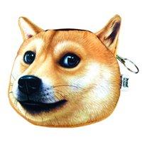 동전 지갑 패션 부티크 귀여운 사랑스러운 3D 개 얼굴 지퍼 케이스 소녀 지갑 지갑 메이크업 가방 파우치 닷지