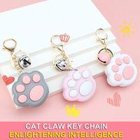 Nettes Zappeln Spielzeug Mini Cat Paw Game Keychain LED Elektronische Gedächtnisspiele Für Kinder Erwachsene Pop es Einfache Grübchen
