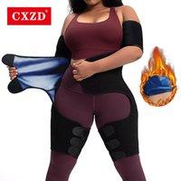 Modernas femininas CXZD Cintura Trainer para Mulheres Suor Sauna Efeito Cinto de Prata Revestimento Gordura Gordura Ajustável Ajustável Trimmer Bulifter Peso Los