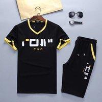 여름 캐주얼 망 Tracksuit 의류 남성 세트 피트니스 스포츠 슈트 맨 브랜드 짧은 세트 티셔츠 스포츠웨어 두 조각 M-3XL