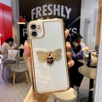3D Elmas Arı Krom Temizle Yumuşak TPU Telefon Kılıfları iPhone 12 11 Pro Prokax X XS Max 7 8 Artı Kılıf Kapak