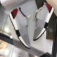 2017 LUXURY DESIGN BRAND DESIGNER appartements en cuir véritable HOMMES SNEAKERS MENS RUNNERS WOMEN casual chaussures de skate femme