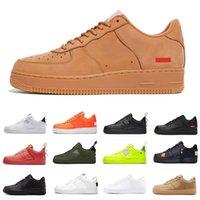 Nike Air Force Forces 1 af1 Dunk triple ال1 الاحذية dunks الظل فائدة الأسود الأحمر القمح الرجال منصة الأحذية شاحب العاج الفستق فروست النساء المدربين الرياضة أحذية رياضية 36-45