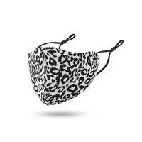 New leopardo padrão reutilizável máscara facial adulto fivela de orelha ajustável macio resistente à poeira respirável atacado