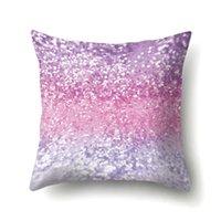 Funda de almohada Color sólido Glitter Plata Lentejuelas Bling Lanzamiento Funda de almohada Cubierta de almohada para Sofá Decoración para el hogar Cojín de cojín Decorativo LLE7036