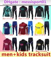 21/22 Messi Homens Kids Tracksuit Barcelona Adulto e Boys Training Suit Sweater 2021 2022