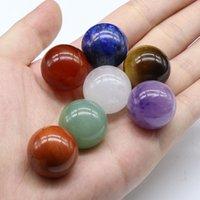 20mm pierre naturelle perles perlées améthyste rose quartz turquoise agate 7chakra bricolage bricolage de billes rondes non poreuses perles de billes yoga guides de pierre de guérison de la méditation