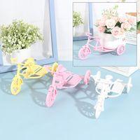 Tricycle Desktop Decoration Flower Basket Est Plastic 5 Color Bike Design Storage Party Pot Decorative Objects & Figurines