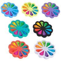 Multi Color Fidget Bubble Poppers Доска Палевые игрушки Большой Размер 15 см Радуга Подсолнечника Форма Push Bubbles Пузырьки Пузырьки Пазл Головоломка Вентиляционная Шаром Простая игрушка HH483MSY