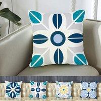 Cushion Decorative Pillow Ethnic Geometric Floral Pattern Cushion Case Nordic Throw Decorative Pillows Fashion Sofa Blue Simple Bohemian Cou