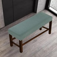 Chair Covers Stretchy Bedroom Dining Room Bench Cover Furniture Protective Elastic Anti Dust Long Stylish Slipcover Full Coverage Home