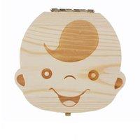 2020 Wholesale-Tooth Box para Baby Guardar Leche Dientes Niños / Girls Imagen Imagen de almacenamiento de madera Cajas de almacenamiento creativo para niños Kit de viaje C1892 126 Z2