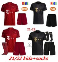 2021 2022 Münchner Kinder Fußball-Trikots Sets Coman Goretzka Kimmich Gnabry Muller Davies Lewandowski Sane Bayern Football Hemd + Shorts mit Socken