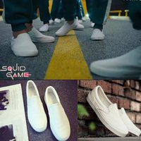 Squid Game running shoes casual Men's Clipper Sneaker Women's Low-Top Trainers Kid's Classic Slip On Canvas Tennis