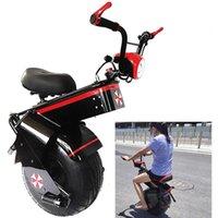 الدراجة الهوائية الأحادية العجلة الكهربائية للأطفال الكبار 1500 واط 60 فولت عجلة واحدة 18 بوصة الذاتي موازنة سكوتر مع مقعد دراجة نارية تحميل متعة اللياقة البدنية الطائرات أضواء الدراجة