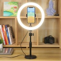 Cell Phone Mounts & Holders Ring Light 10 Inch LED Dimmable Video Studio Pography Lighting Portable For Youtube Vlog Live Po With Tripod