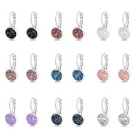 Stud Simplee Korean Fashion Earrings With Round Stone For Women Silver Color Hanging 2021 Trend Jewelry K- Accessories