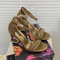Klassische High Heels Sandalen Grob Heel Leder Wildleder Frau Schuhe Metall Schnalle Parties Gürtel Sexy Lady Sandal Home011 01