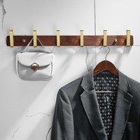 شماعات رفوف الحمام معطف هوك الفضاء الألومنيوم الملابس الذهبي نحى الجدار الملحقات مجموعة الأجهزة