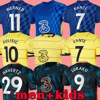 21 22 chelsea camisa de futebol HAVERTZ WERNER chelsea fc soccer jersey 2021 2022 PULISIC CHILWELL ZIYECH ABRAHAM MOUNT KANTÉ LAMPARD football shirt