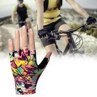2 adet Mikro Elyaf Deri Bisiklet Eldiven Unisex Kaymaz Renkli Siyah Yaz Yarım Parmak Açık