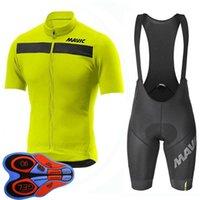 Mavic Takım Erkekler Bisiklet Jersey Önlüğü Şort Takım Yaz Nefes MTB Bisiklet Giyim Dağ Bisikleti Giymek Ropa Ciclismo S21070814
