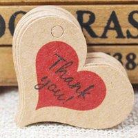 심장 모양 선물 레이블 태그 빈티지 빈티지 선물, 캔디 호의에 대 한 크래프트 태그 장식 장식 레이블 태그 4 * 2.6cm