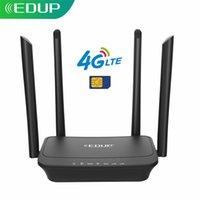 EDUP WiFi Router Carte SIM 300Mbps 3G / 4G WIFI WIFI Dongle LTE FDD Hotspot Mobile Adaptateur 4 * 6DBI Antenne externe RJ45 WAN LAN