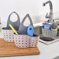 Sopa de armazenamento da pia sabão sabão esponja drenagem cozinha ajustável torneira limpeza pano organizador cesta saco banheiro suspensão suporte