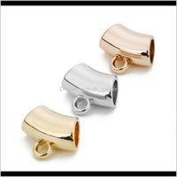 Autre xinyao 50 pcslot rose couleur or ccb tube perles de tube lâche connecteurs d'entretois ajustement bracelets collier bricolage bijoux fabrication zdb4i xmvlk
