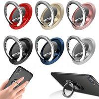 Luxury Finger Ring Holder Stand Grip 360 Rotating for Mobile Phone Car Magnetic Mount CellPhone Back Sticker Pad Unniversal Bracket