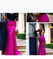 Vintage Evening Dresses Sheer Floor Length Evening Gowns Half Sleeves Black Lace Real Image Plus Size Long Prom Dress