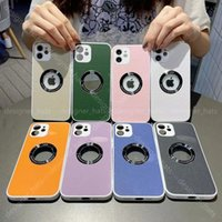 New 2021For iphone Cell Phones Cases lambskin all-inclusive camera metal ring designer phone case Cell Phone Cases