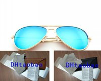 summer men Dazzle colour Sunglasses +case box cloth outdoors Fashion women driving eyeglasses UV400 12colors with packing round metal frame cycling glasses goggles