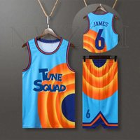 Custom Full Set Jersey Filme Espaço Jam James 6 # 23 # Tune Esquadrão Jersey Jersey Set Sports Air Slam Dunk Sleeve Camisa Uniforme G0913