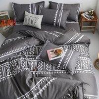 Bedding Sets Geometric Home Linen Twin Full Queen Set Reactive Printing Bedclothes 3 4pcs Duvet Cover+Flat Sheet+Pillowcase Polyester