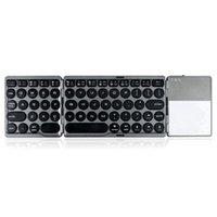 Oficina de computadora portátil ultra-delgada de tres plegables plegables inalámbricos con teclados de trackpad