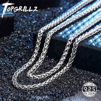 Topgrillz 100% 925 Sterling Silver Men's Necklace Bling Iced Out Hip Hop Rock Link Franco Chain Gold for