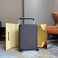 큰 브랜드 럭셔리 디자이너 여행 가방 수하물 패션 유니섹스 트렁크 가방 꽃 편지 지갑 막대 상자 스피너 유니버설 휠 더플 백