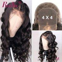Body Wave 4x4 Closure Wig 5x5 Lace Human Hair Wigs Front 150% Density RUIYU Brazilian Remy Wigs1