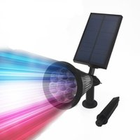 ed Solar Power Outdoor Garden Decoraton Spot Light Grondspots Solar LED Lawn Lamp Path Light RGB Wall Mounted Spotlight Landscape Lighting