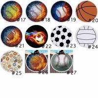 27 Styles Round Beach Towel Blanket Fire Softball Baseball Basketball Beach Blanket Bedroom Decor Yoga Mat Beach Towels OOD6413