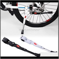 Serrature Aessories Sport all'apertoAdjustable MTB Road Bicycle Kickstand Parcheggio Rack Mountain Bike Supporto laterale Kick Kick Stand Piede Brace Cycling