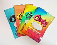 Edibles Packaging Mylar Bags Gummy worms anelli pesche anelli arcobaleno cinture 400 mg Gummies ridacchia imballaggio eddibles mylara packaginga borsa con cerniera richiudibile