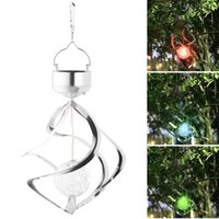Decorative Objects & Figurines Solar Powered Wind Chime Light LED Garden Hanging Spinner Lamp Color Changing Lawn Yard Home Decoration 2021