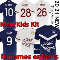 Girondins de Bordeaux Maillot de Football Shirt 2021 축구 유니폼 Maja Oudin S.Kalu Ben Arfa T.Basic 남성 키트 타이 유니폼
