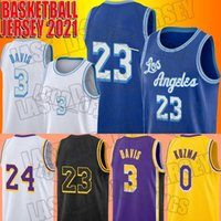 Lebron 23 James 2021 Nova Jerseys de Basquete Los AngelesLakers.Kobe.24.Bryant Mens Anthony 3 Davis Kyle 0 Kuzma Verde ZXCV