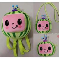 Halloween Kids Geschenke Kokomelon Plüsch Puppe Rucksack Crossbody Taschen Jungen Mädchen Fanny Pack Cartoon Geldbörsen Brieftasche Münzsäcke Schultertasche Baby Schule Pack G877GSL