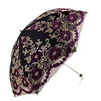 Paraguas Lace Doble Deck UV Protection Parasol 2 Paraguas plegable para bodas Bridal
