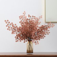 Decorative Flowers & Wreaths Shell Leaf Branch Silk Artificial For Home Table Decor Window Display Wedding Pography Props Fake Plants